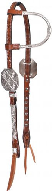 Showman ® Tooled Argentina cow leather show headstall..
