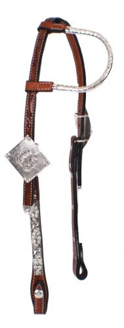 Showman ® Tooled Argentina cow leather show headstall...