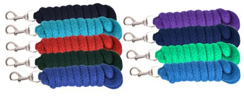 10' Braided Cotton Lead Rope with Brass Snap.