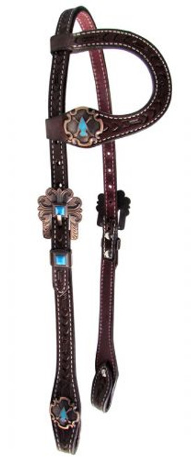 Showman ® Argentina cow leather single ear headstall**