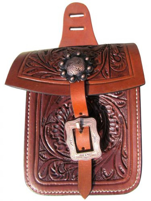 Showman ® Accorn tooled saddle pocket.