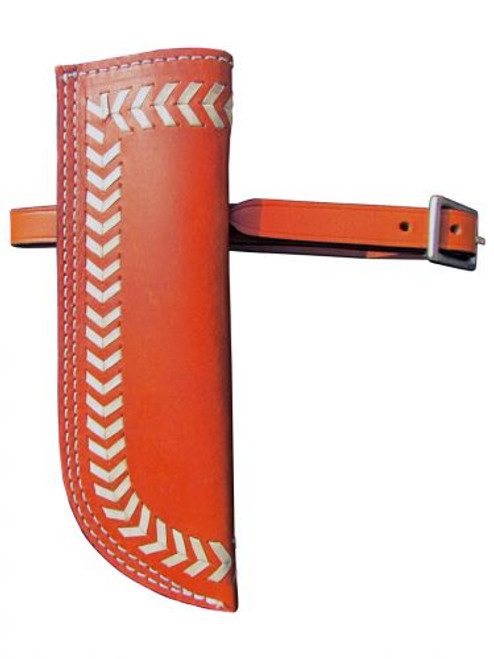 Showman ® Buckstitch leather flag carrier.