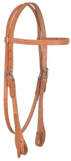 Showman ® Argentina Cowhide Harness Leather Browband Headstall.