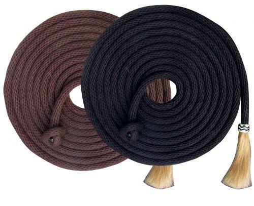 Showman®  23' Nylon Mecate Reins with Horse Hair Tassle.