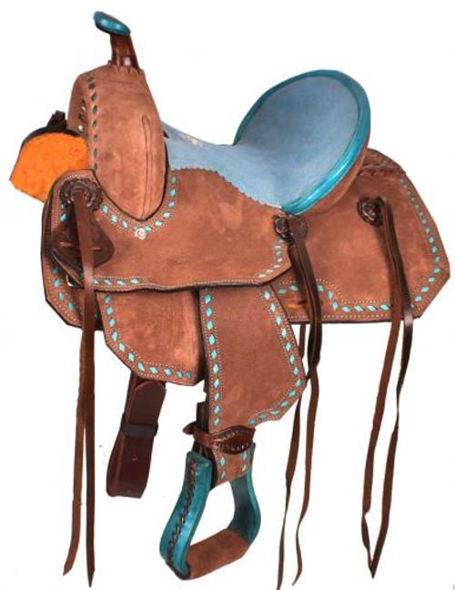 """12"""" Double T  Youth Barrel style saddle."""