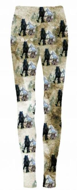 """""""Running Horses"""" leggings."""