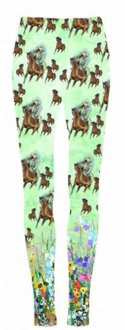 """""""Roping Cowgirl"""" leggings."""