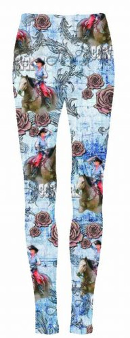 """Riding Into The Roses"" leggings."