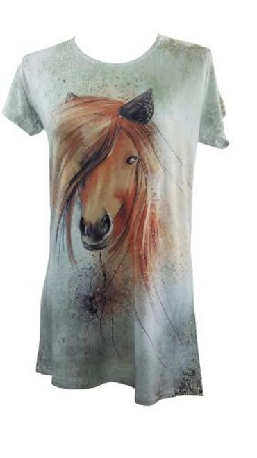 """Preppy Horse"" Round Neck T-Shirt."