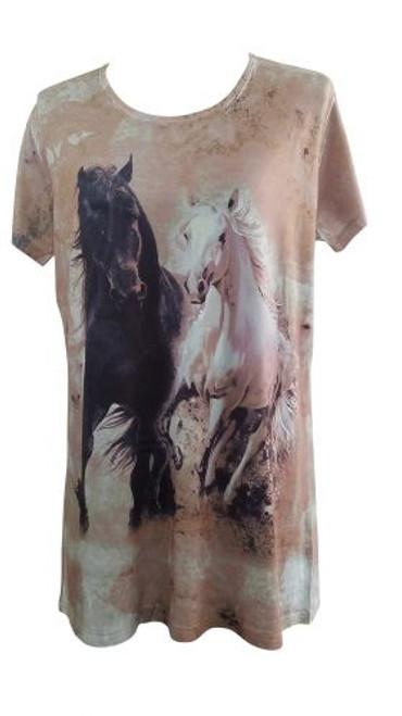 """""""Running Horses"""" Round Neck T-Shirt."""