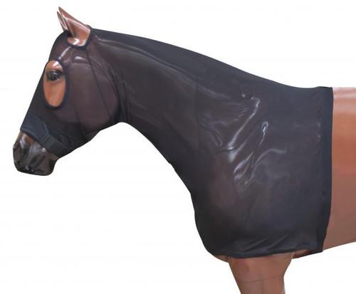 Showman ® Lycra® Mesh zipper slicker hood.