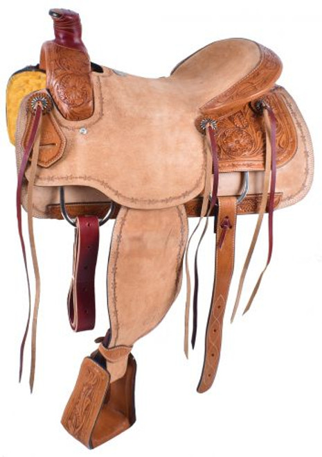"""15"""", 16"""" Circle S Roping Saddle with Roughout Seat.  ***Full QHB***"""