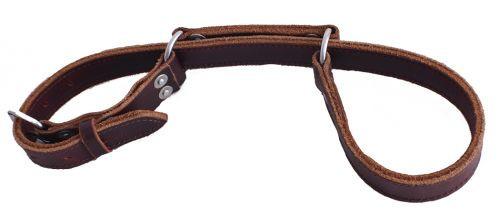 Showman® Burgundy latigo leather hobbles.
