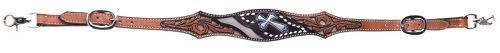 Showman ® Silver hand painted cross wither strap.