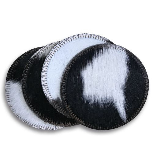 Black and White Cowhide Coasters.