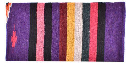 "32"" x 64"" Arcylic top saddle blanket with Purple Serape design."