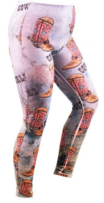 """Cowgirl Boots"" leggings."