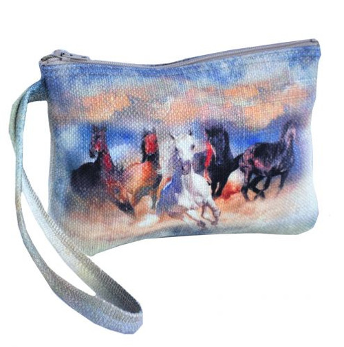 """""""Wild and Free"""" Running Horse Wristlet."""
