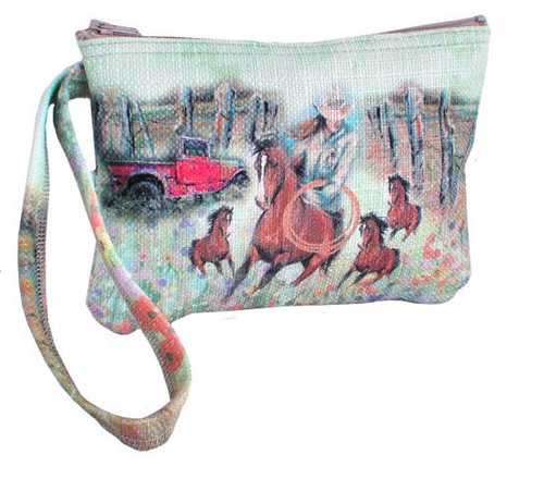 """""""Roping Cowgirl"""" Wristlet."""