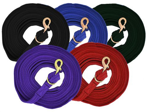 Showman ® Flat Cushion Lunge Line with Removable Brass Snap.