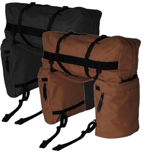Showman ® Nylon Oversized Saddle and Cantle Bag.