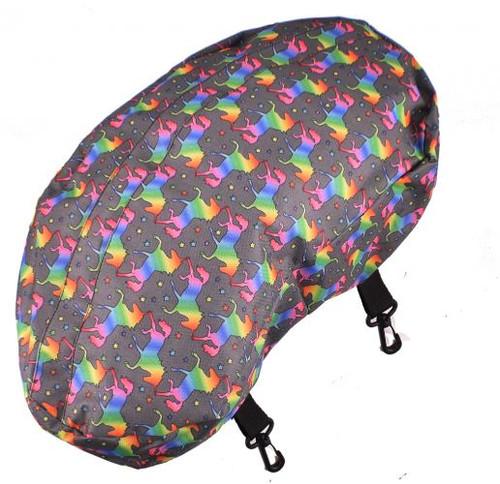 Showman ® Unicorn printed nylon cantle bag made of sturdy nylon material.