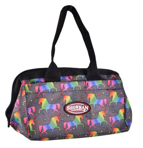 Showman® Unicorn printed durable nylon mini tote bag.