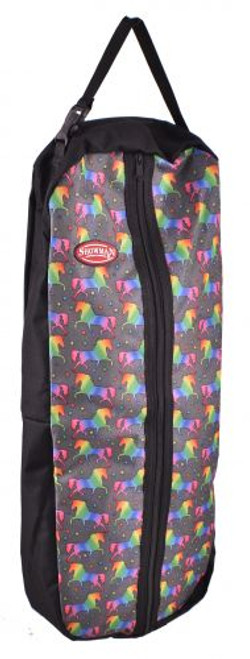 Showman® Unicorn printed nylon halter & bridle bag with zipper front.