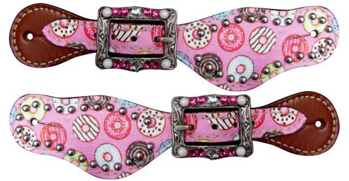 Showman ® Youth Donut printed spur straps.
