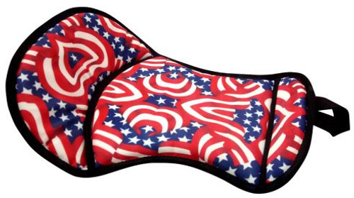Showman Patriotic Print seat saver with fleece bottom.