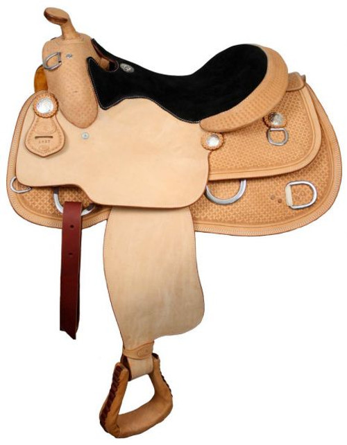 """16"""", 17"""" Premium Leather Double T Training Saddle with Suede Leather Seat"""