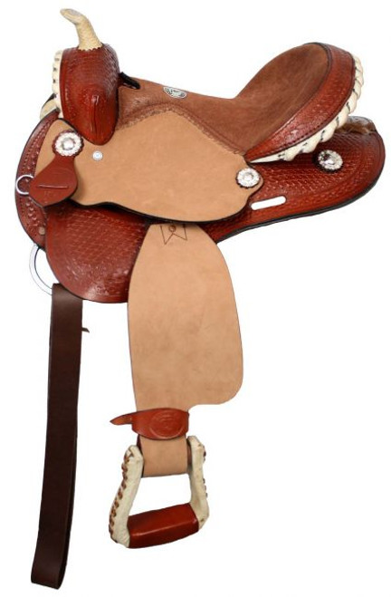 "12"" Double T Youth Saddle with Suede Leather Seat"