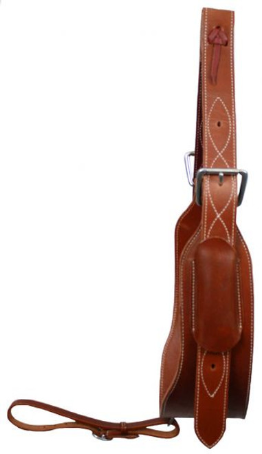 "Showman Heavy Duty 5"" Wide Leather Back Cinch"