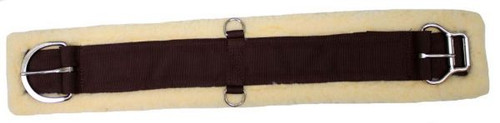 Showman Fleece Girth With Double Roller Buckle