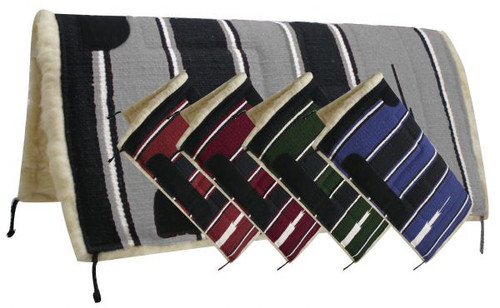 """Showman™ 30"""" x 30"""" Navajo Built Up Pad with Kodel Fleece Bottom and Suede Wear Leathers"""