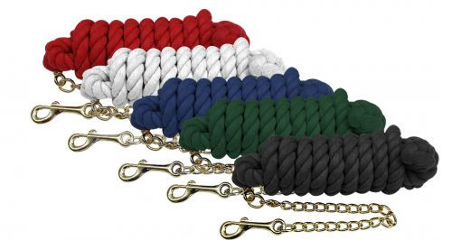 Cotton Horse Lead with Chain