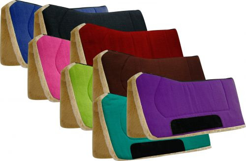 """Showman 32"""" x 32"""" Contoured Pad with Kodel Fleece Bottom and Suede Wear Leathers"""