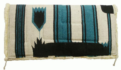 """Showman 32"""" x 32"""" Deluxe Navajo Pad with Kodel Fleece Bottom and Suede Wear Leathers"""