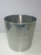 Stainless Steel Etched Waste Paper Bin  - oval