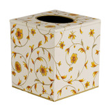 Scroll Cube Tissue Cover - Ivory