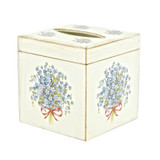 Blue Flower Florentine Tissue Box Cover  with Lifting Lid | SALE