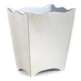 Brushed Silver Waste Paper Basket - side view