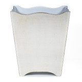 Brushed Silver Waste Paper Basket - front view