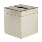 Brushed Silver Florentine Tissue Box Cover
