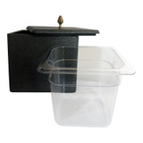 Perspex Container fits inside the bucket