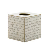 Jane Austen Tissue Box - Side and Back View