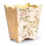 Trailing Rose Waste Paper Basket - side view
