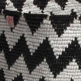 Close up of the crochets plastic bags
