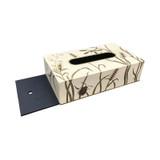 Dragonfly (Ivory) Rectangle Tissue Box (with sliding base - OPEN)