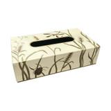 Dragonfly (Ivory) Rectangle Tissue Box (with sliding base)